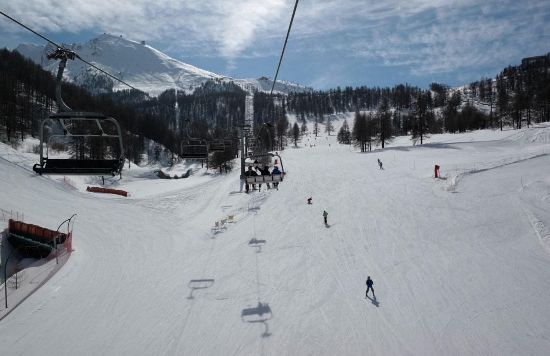 Un giorno di sci a Sestriere