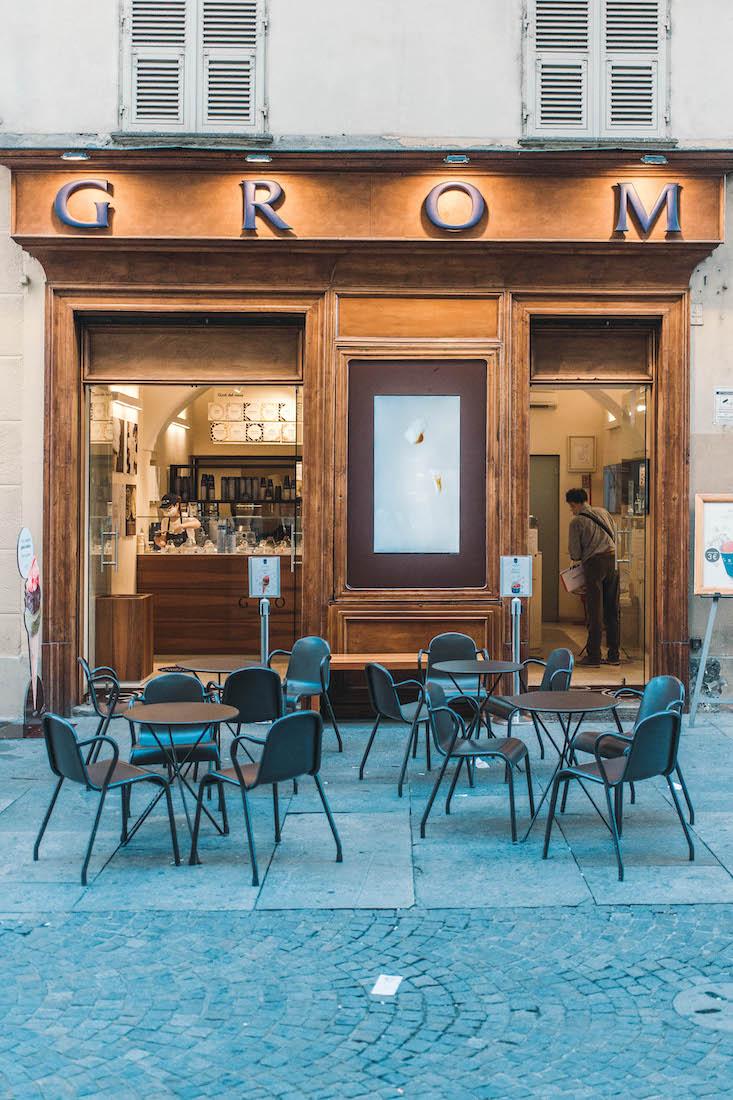 Le gelaterie Grom nelle strade di Torino, Milano, Roma e Genova