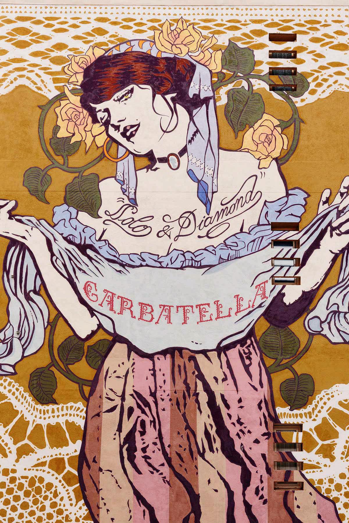 Garbatella, murale realizzato dagli artisti Solo & Diamond