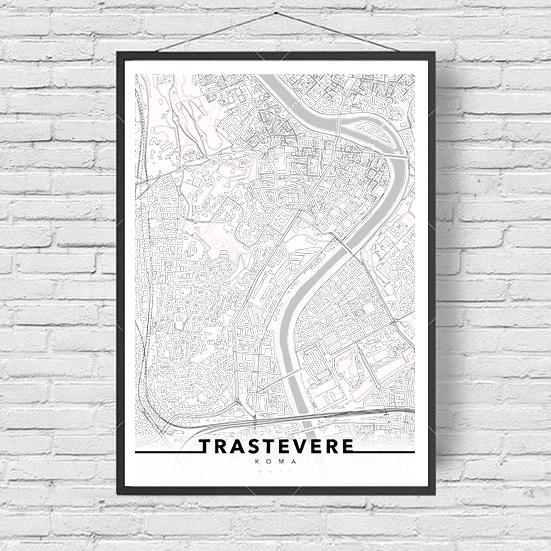 urbe mmxx mappa roma quartiere trastevere