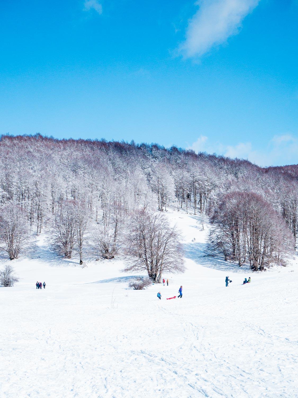 Le strade della neve a Campaegli